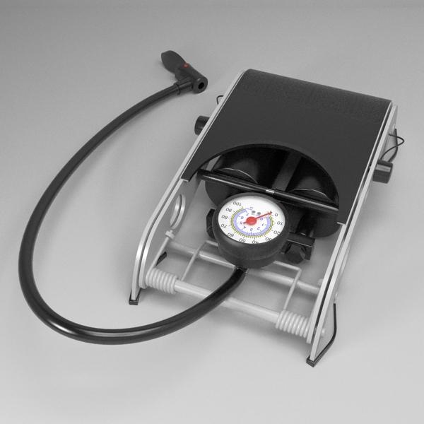 foot pump 3d model 3ds fbx skp obj 114875