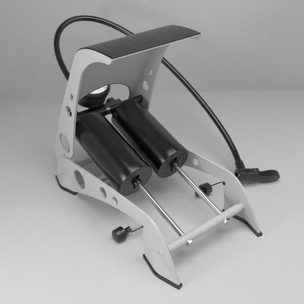 foot pump 3d model 3ds fbx skp obj 114876