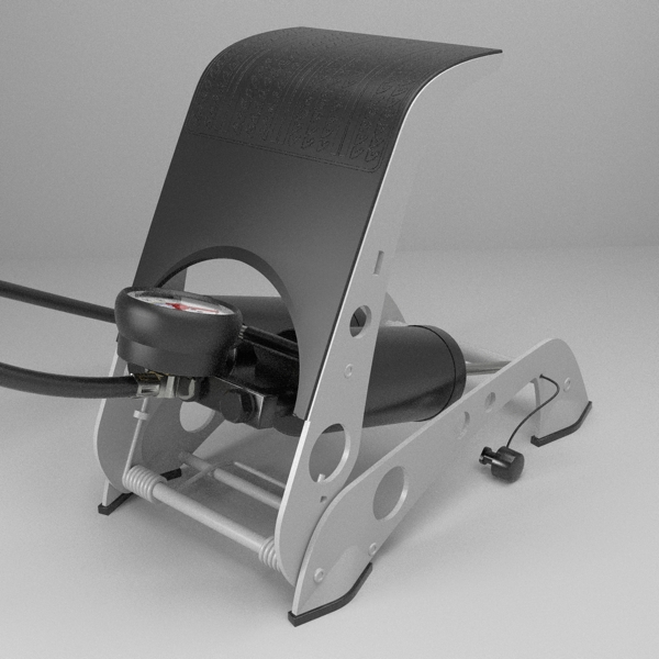 foot pump 3d model 3ds fbx skp obj 114877
