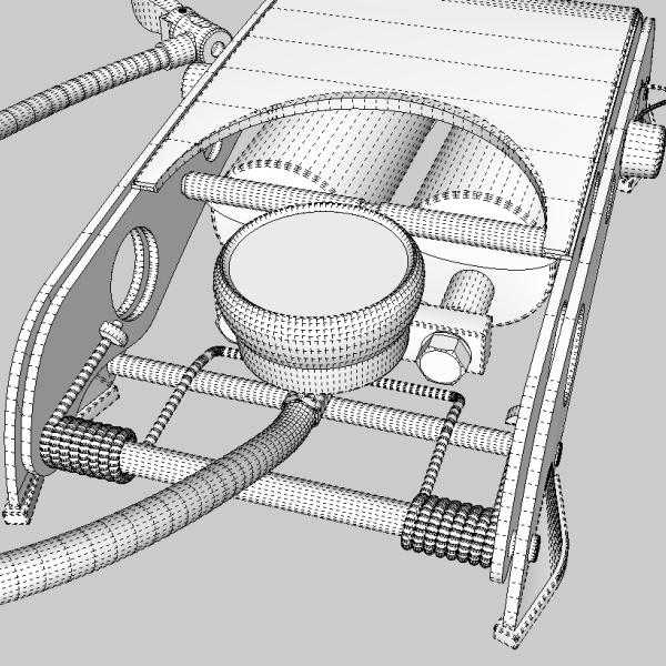 foot pump 3d model 3ds fbx skp obj 114879