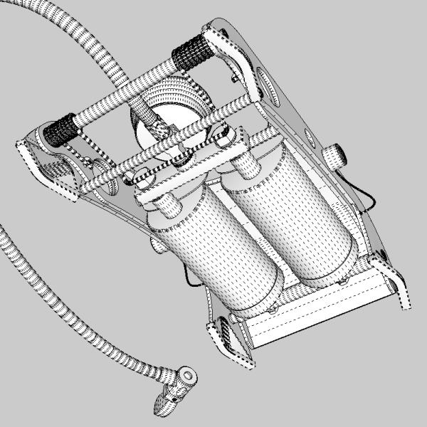 foot pump 3d model 3ds fbx skp obj 114880