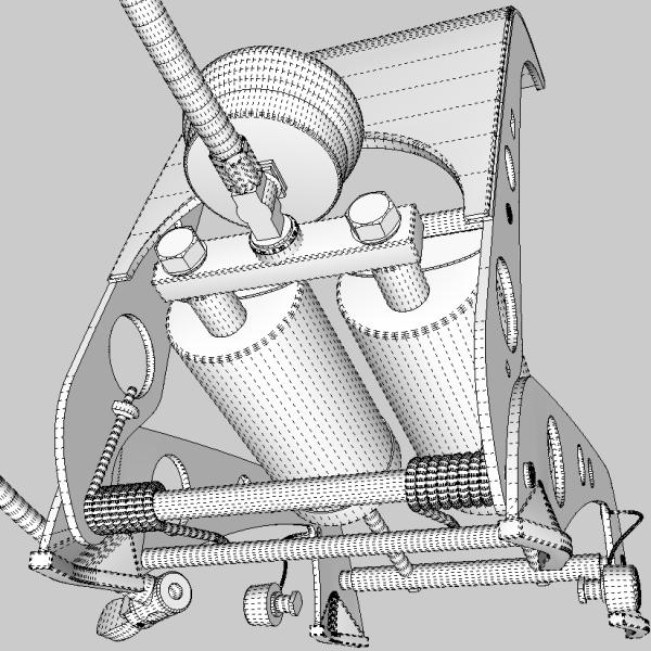 foot pump 3d model 3ds fbx skp obj 114882