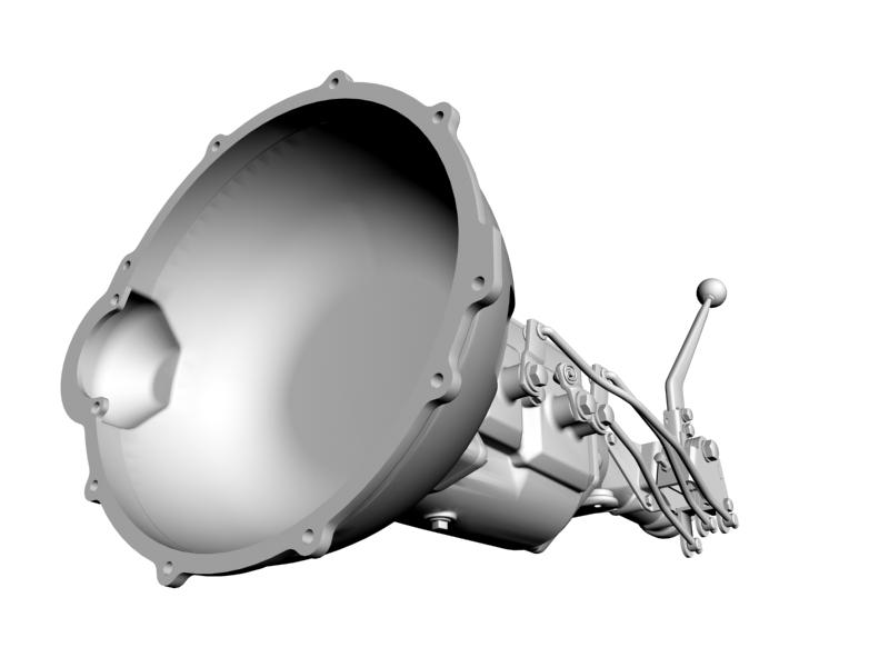 ford 4-speed toploader transmission and shifter 3d model 3ds dxf 113849