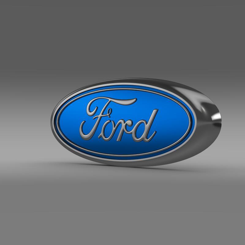 ford logo 3d model 3ds max fbx c4d lwo ma mb hrc xsi obj 119165