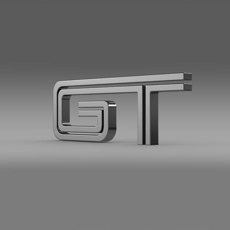 ford mustang gt logo 3d model 3ds max fbx c4d lwo ma mb hrc xsi obj 124533