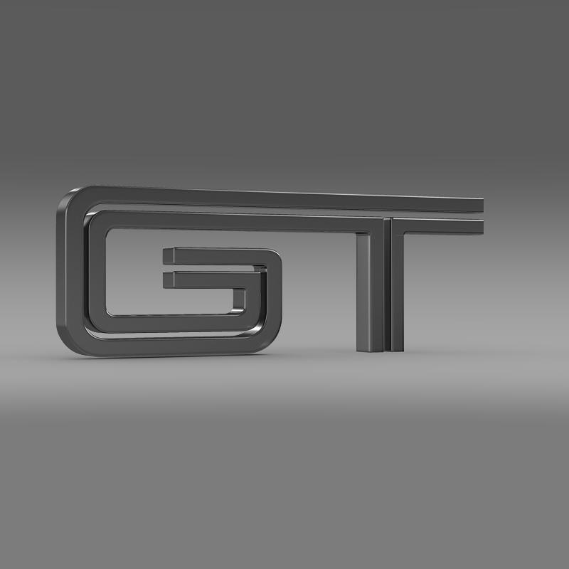 ford mustang gt logo 3d model 3ds max fbx c4d lwo ma mb hrc xsi obj 124535