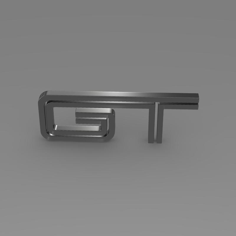 ford mustang gt logo 3d model 3ds max fbx c4d lwo ma mb hrc xsi obj 124537