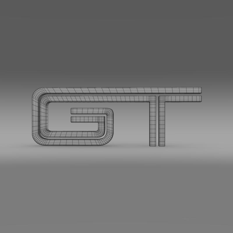ford mustang gt logo 3d model 3ds max fbx c4d lwo ma mb hrc xsi obj 124539