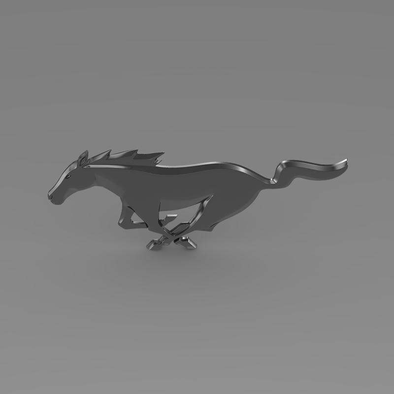 ford mustang new logo 3d model 3ds max fbx c4d lwo ma mb hrc xsi obj 124565