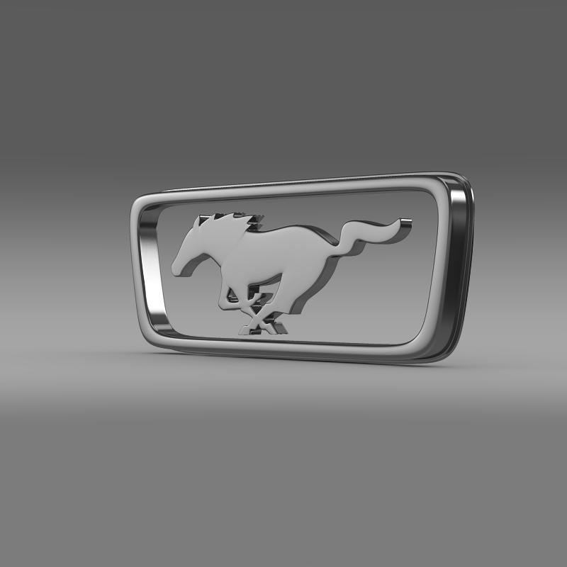 ford mustang pony logo 3d model 3ds max fbx c4d lwo ma mb hrc xsi obj 124554