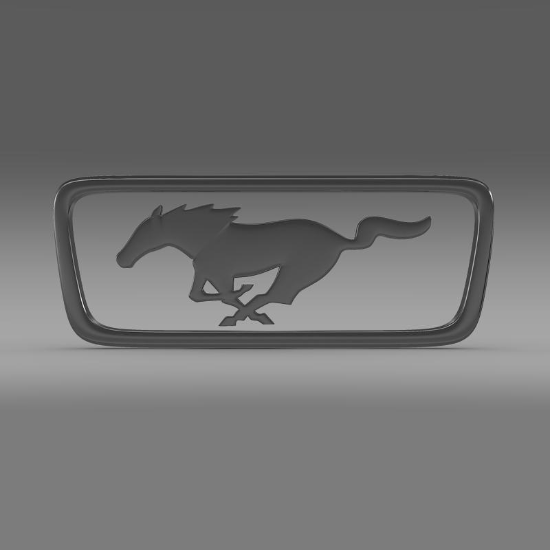 ford mustang pony logo 3d model 3ds max fbx c4d lwo ma mb hrc xsi obj 124555