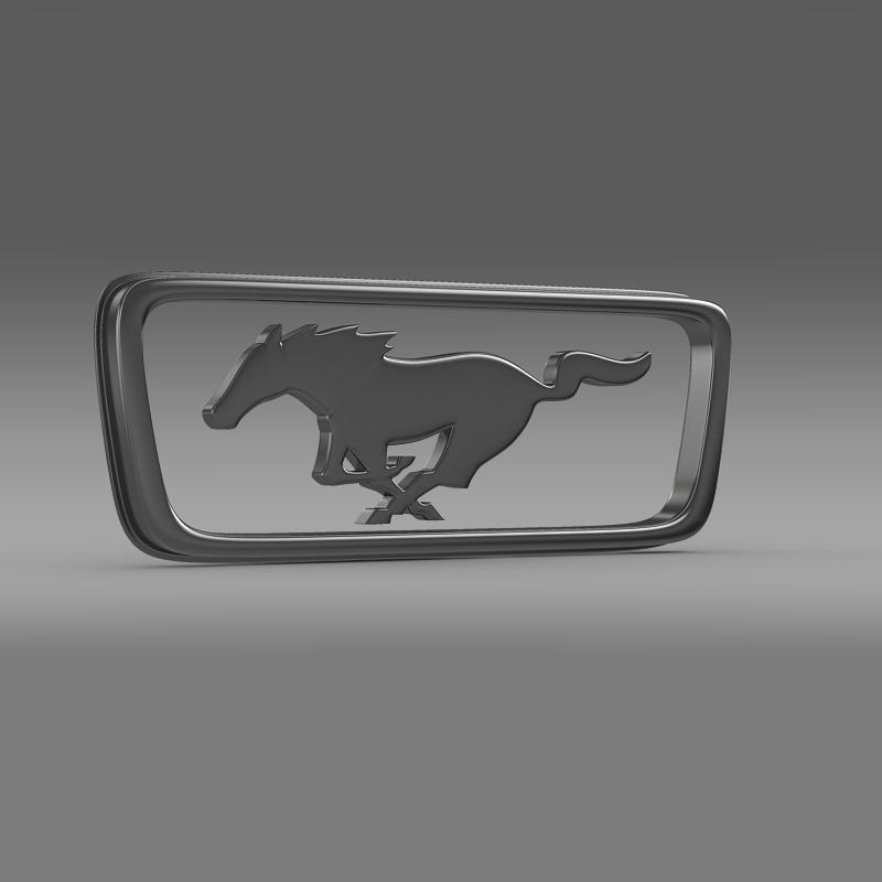 ford mustang pony logo 3d model 3ds max fbx c4d lwo ma mb hrc xsi obj 124556