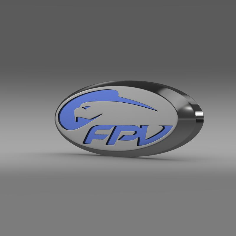 ford performance vehicles logo 3d model 3ds max fbx c4d lwo ma mb hrc xsi obj 152300