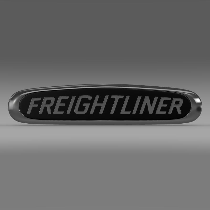 freightliner logo 3d model 3ds max fbx c4d lwo ma mb obj 119173