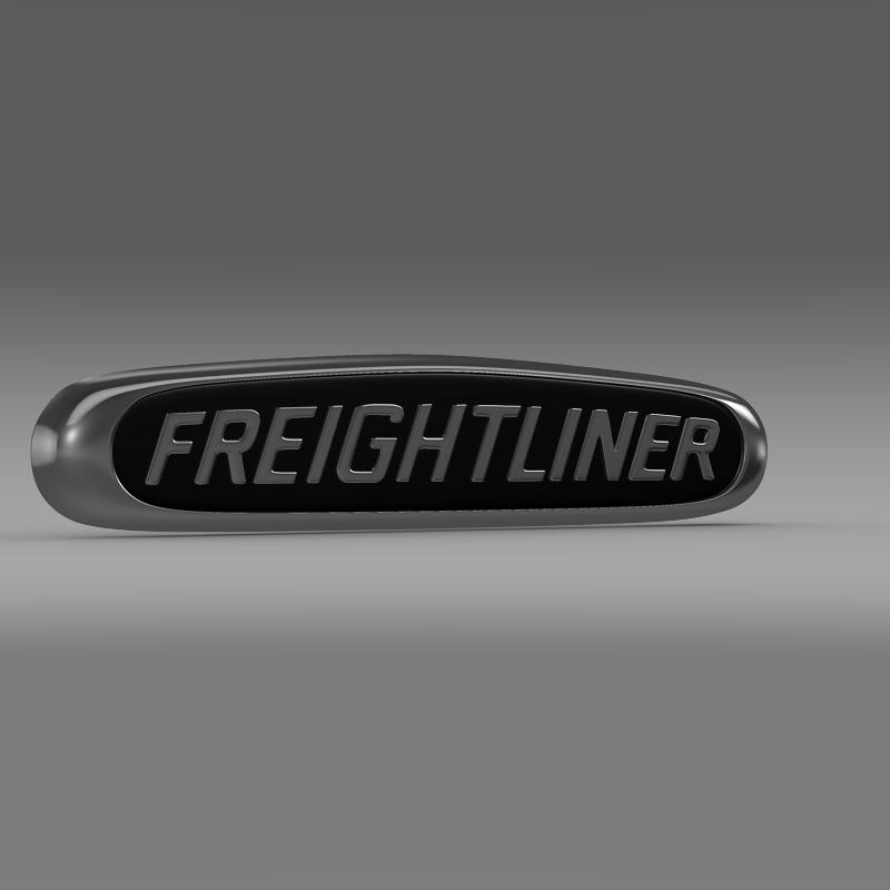 freightliner logo 3d model 3ds max fbx c4d lwo ma mb obj 119174