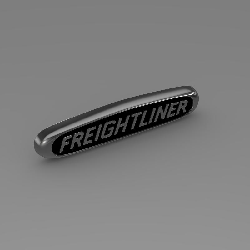 freightliner logo 3d model 3ds max fbx c4d lwo ma mb obj 119177