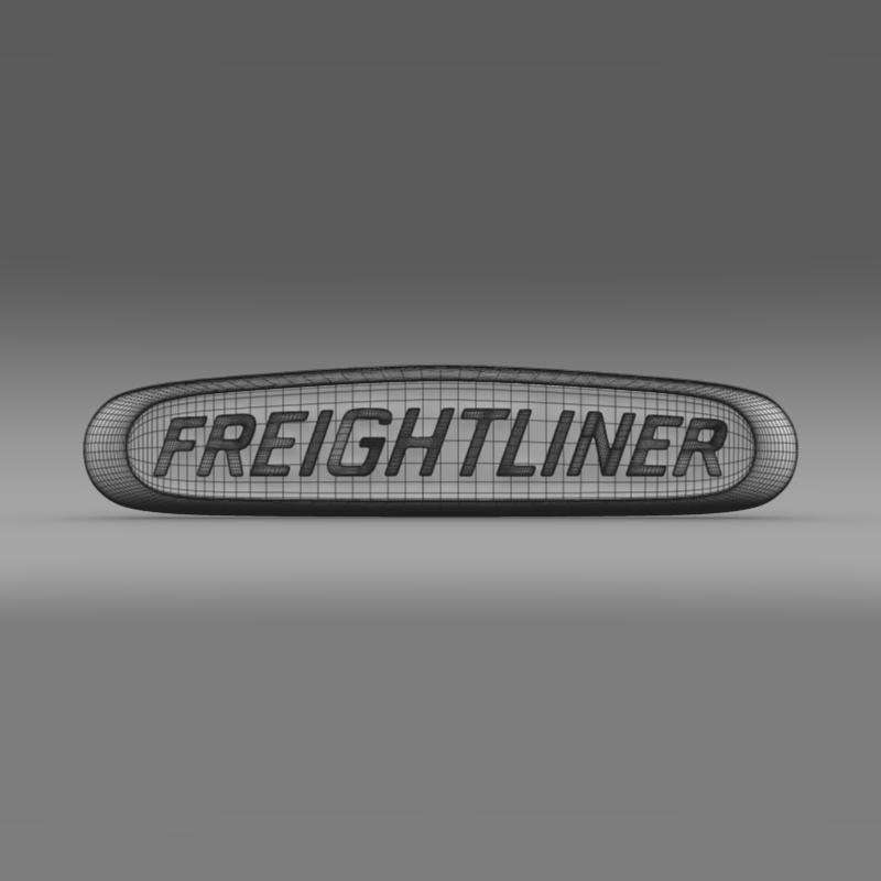 freightliner logo 3d model 3ds max fbx c4d lwo ma mb obj 119178