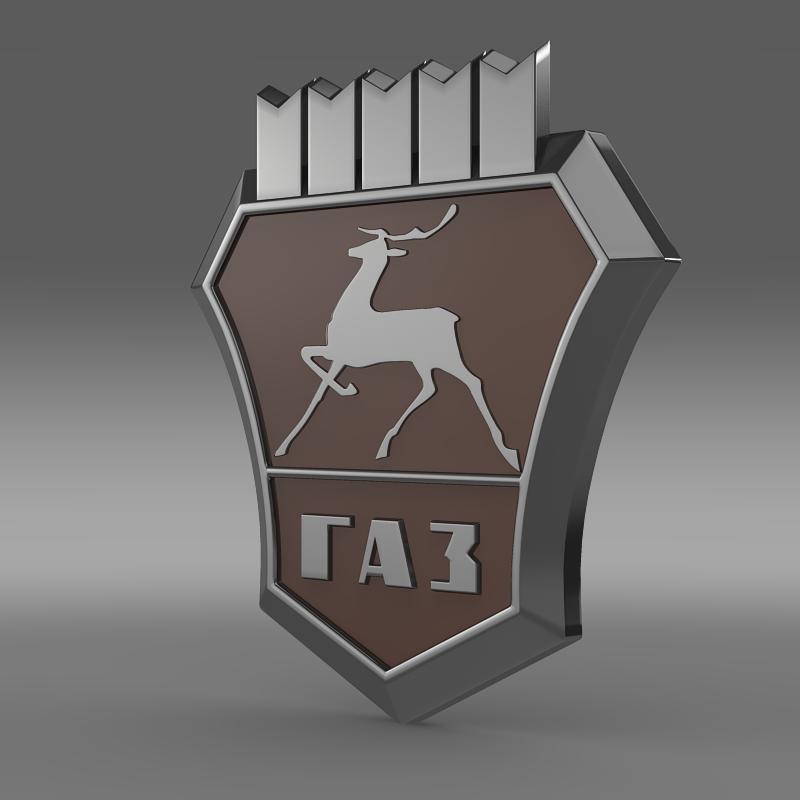 gaz new logo 3d model 3ds max fbx c4d lwo ma mb hrc xsi obj 152307