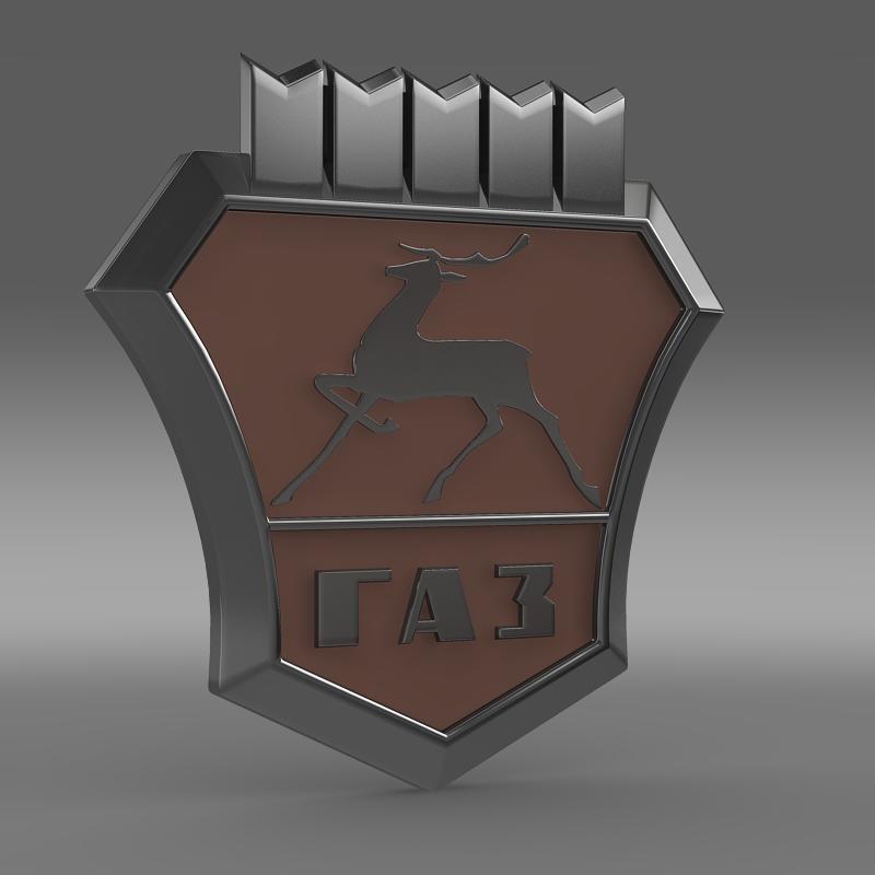 gaz new logo 3d model 3ds max fbx c4d lwo ma mb hrc xsi obj 152308