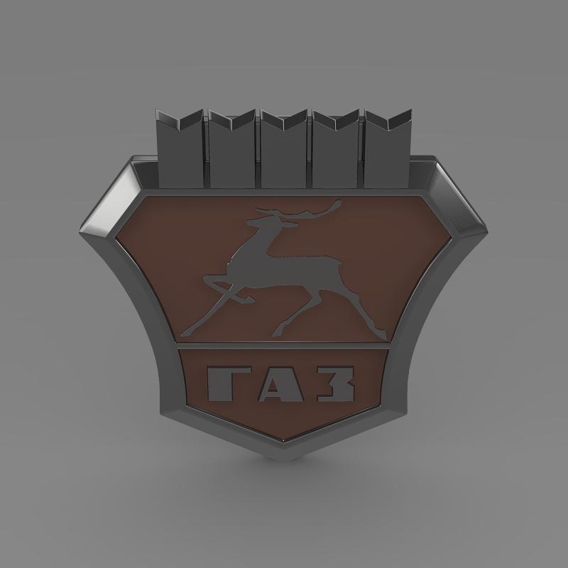 gaz new logo 3d model 3ds max fbx c4d lwo ma mb hrc xsi obj 152312