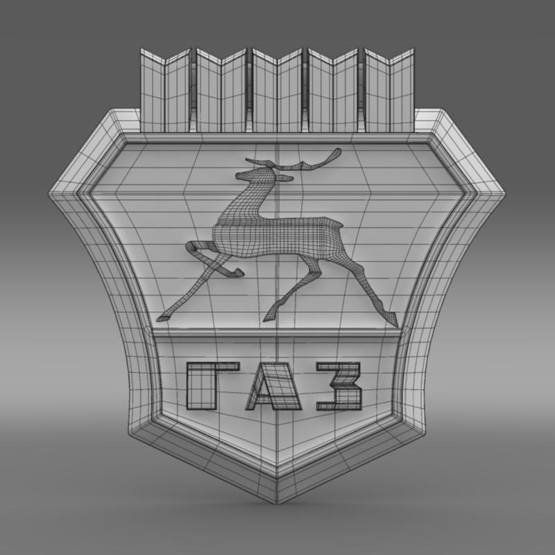 gaz new logo 3d model 3ds max fbx c4d lwo ma mb hrc xsi obj 152313