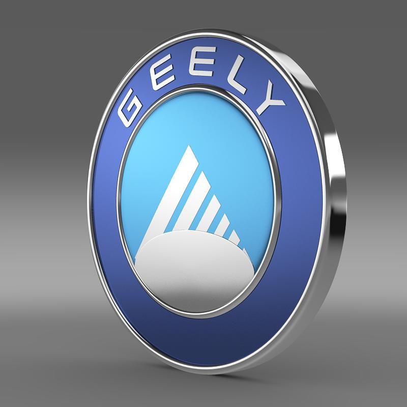 geely logo 3d model 3ds max fbx c4d lwo ma mb hrc xsi obj 119633