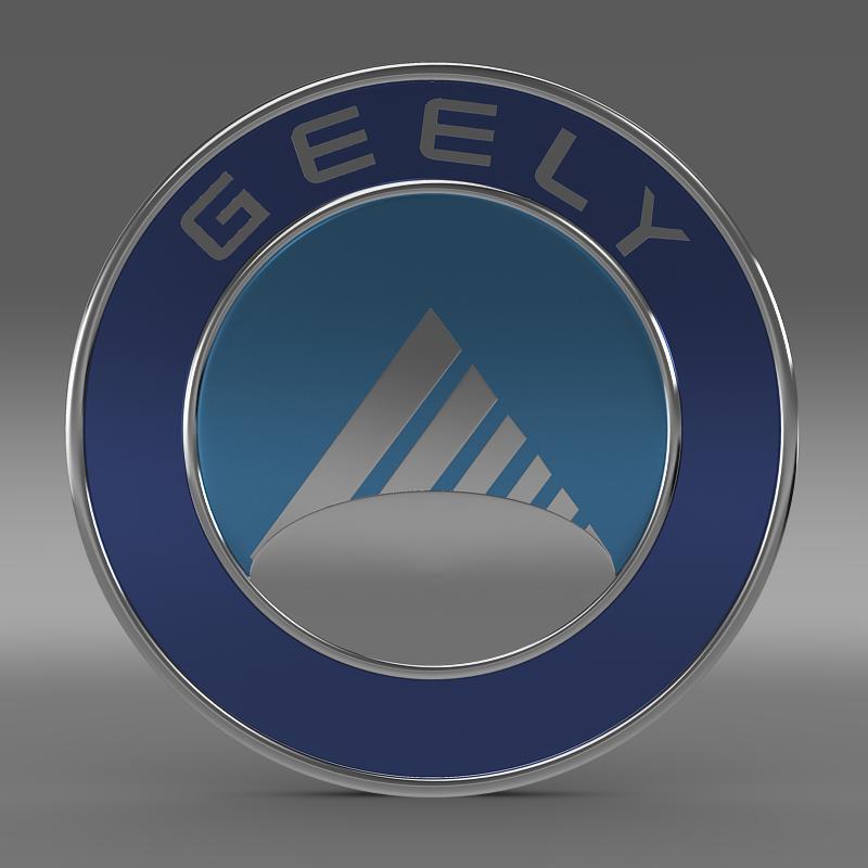 geely logo 3d model 3ds max fbx c4d lwo ma mb hrc xsi obj 119634