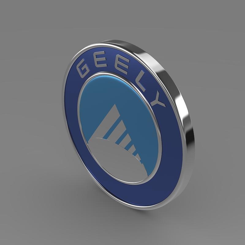 geely logo 3d model 3ds max fbx c4d lwo ma mb hrc xsi obj 119636