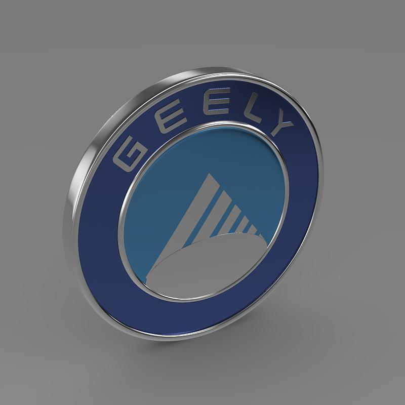 geely logo 3d model 3ds max fbx c4d lwo ma mb hrc xsi obj 119638