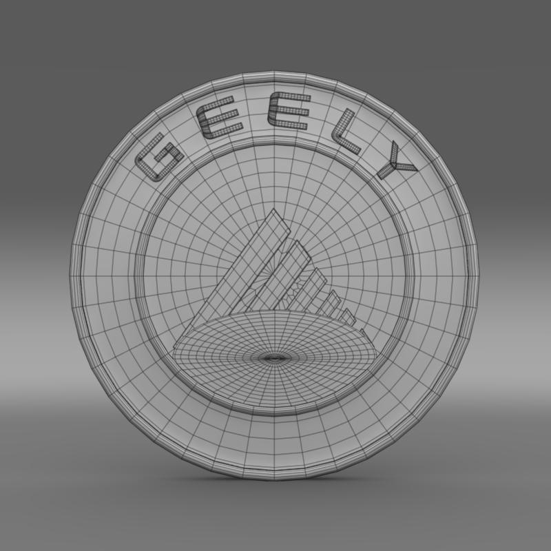 geely logo 3d model 3ds max fbx c4d lwo ma mb hrc xsi obj 119639