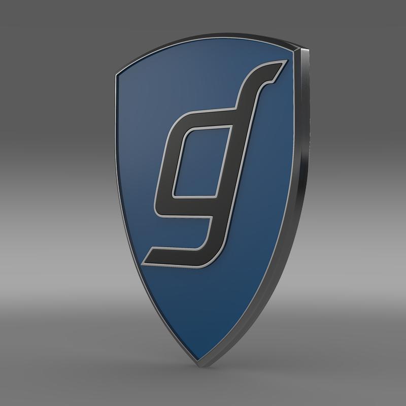 gentley logo 3d model 3ds max fbx c4d lwo ma mb hrc xsi obj 152314