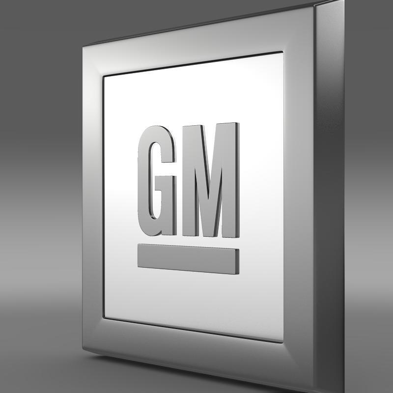 gm logo 3d model 3ds max fbx c4d lwo ma mb hrc xsi obj 117251