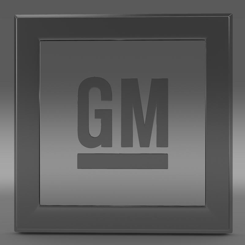 gm logo 3d model 3ds max fbx c4d lwo ma mb hrc xsi obj 117252
