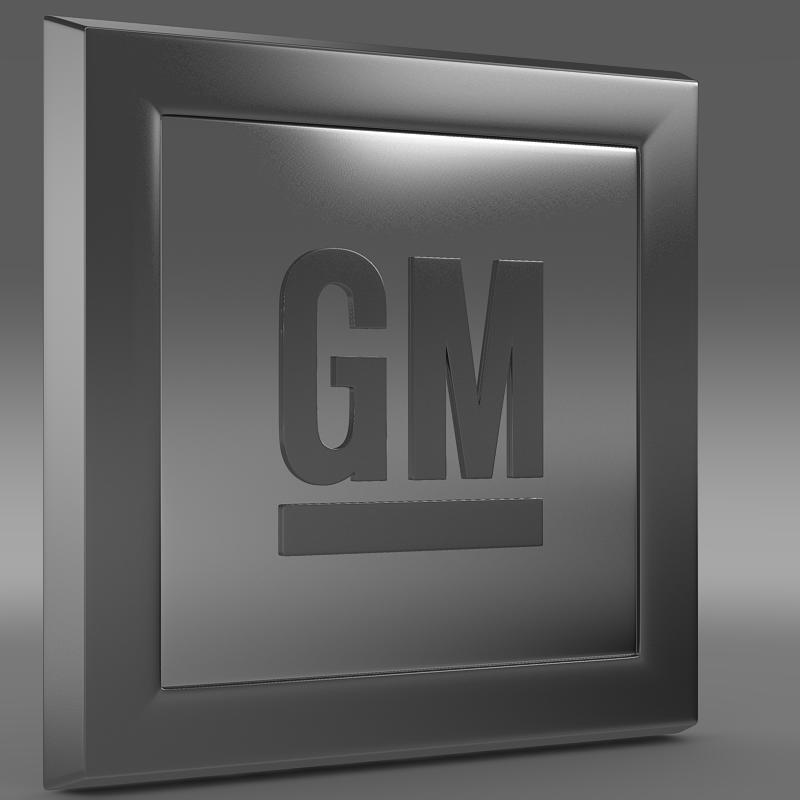 gm logo 3d model 3ds max fbx c4d lwo ma mb hrc xsi obj 117253