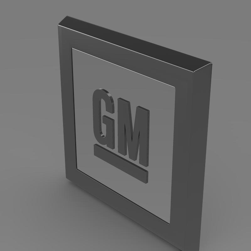 gm logo 3d model 3ds max fbx c4d lwo ma mb hrc xsi obj 117254