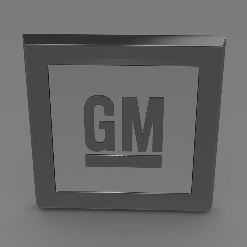 gm logo 3d model 3ds max fbx c4d lwo ma mb hrc xsi obj 117255