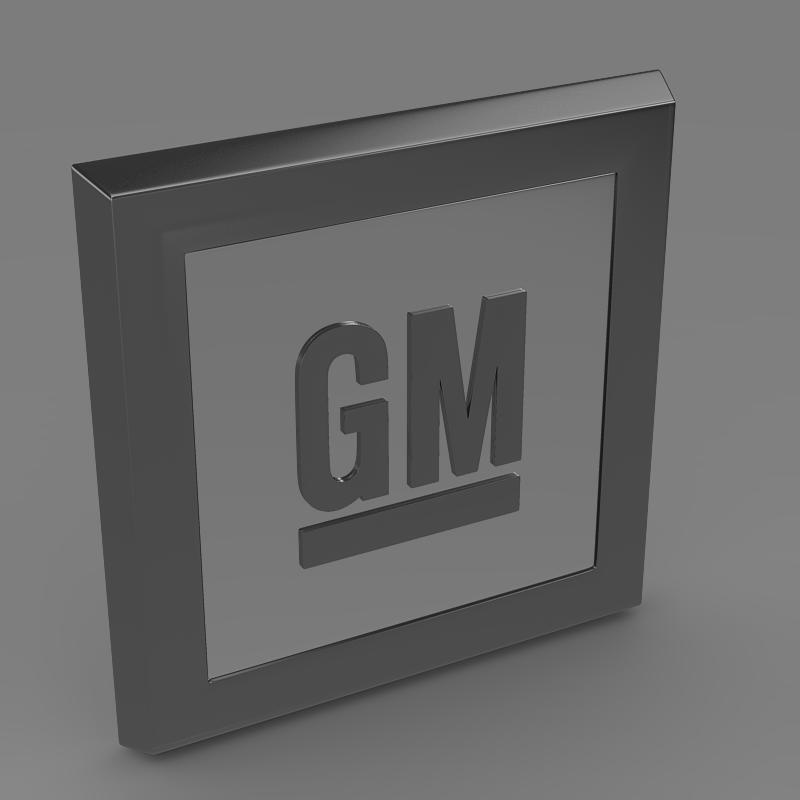 gm logo 3d model 3ds max fbx c4d lwo ma mb hrc xsi obj 117256
