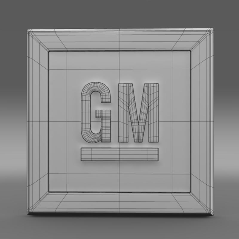 gm logo 3d model 3ds max fbx c4d lwo ma mb hrc xsi obj 117257