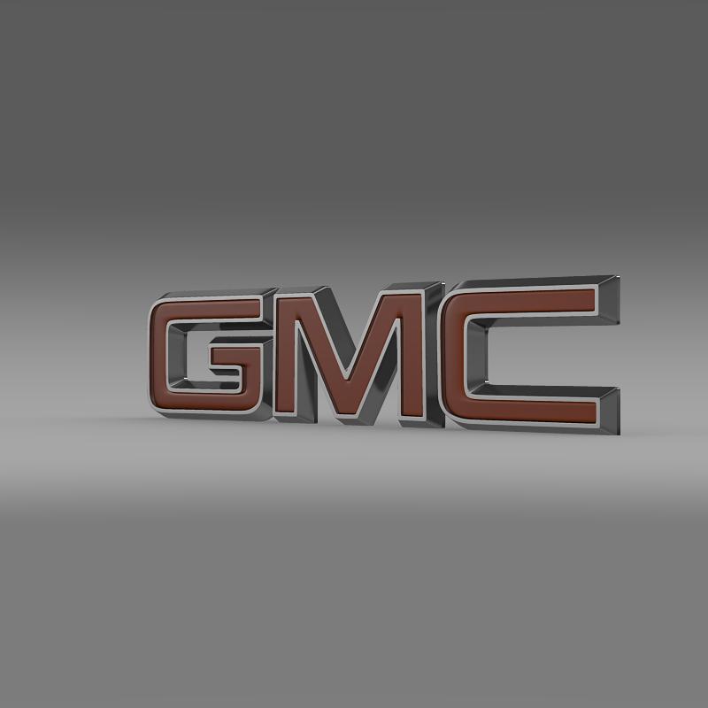 gmc logo 3d model 3ds max fbx c4d lwo ma mb hrc xsi obj 117524