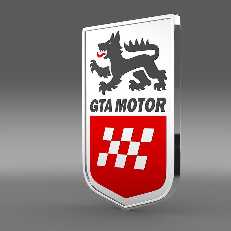gta motors logo 3d model 3ds max fbx c4d lwo ma mb hrc xsi obj 152328