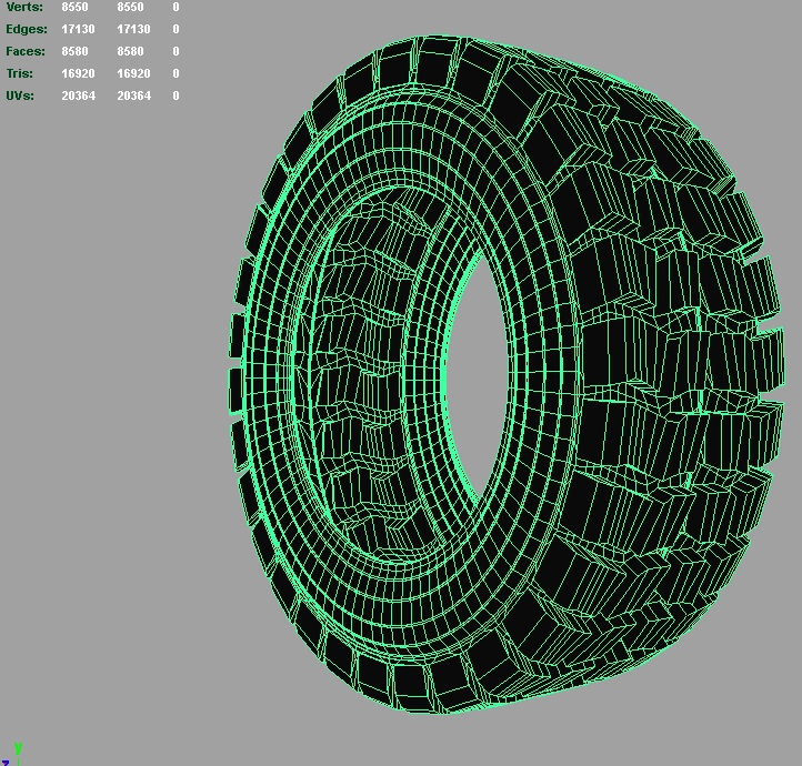 heavy vehicle tire 3d model 3ds fbx c4d lwo ma mb hrc xsi obj 128340