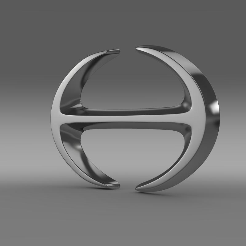 hino logo 3d model 3ds fbx c4d lwo ma mb hrc xsi obj 121587