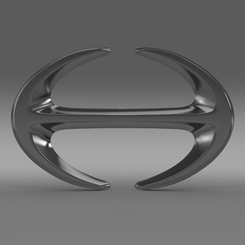 hino logo 3d model 3ds fbx c4d lwo ma mb hrc xsi obj 121588