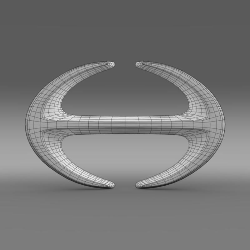 hino logo 3d model 3ds fbx c4d lwo ma mb hrc xsi obj 121593
