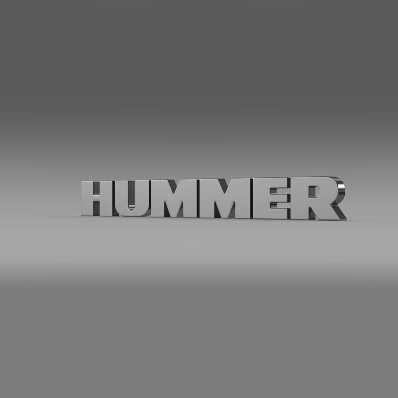 hummer logo 3d model 3ds max fbx c4d lwo ma mb hrc xsi obj 124233