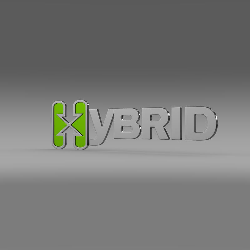 hibrid loqosu 3d modeli 3ds max fbx c4d lwo ma mb hrc xsi obj 151490