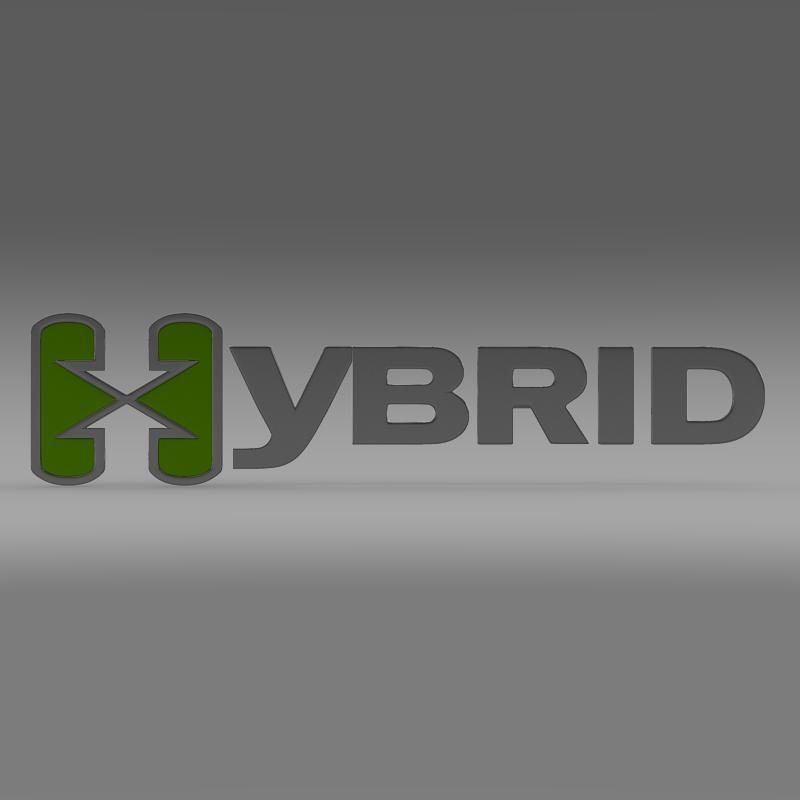 hibrid loqosu 3d modeli 3ds max fbx c4d lwo ma mb hrc xsi obj 151491