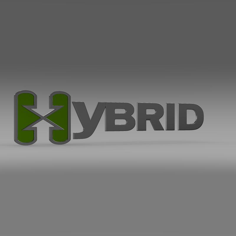 hibrid loqosu 3d modeli 3ds max fbx c4d lwo ma mb hrc xsi obj 151492