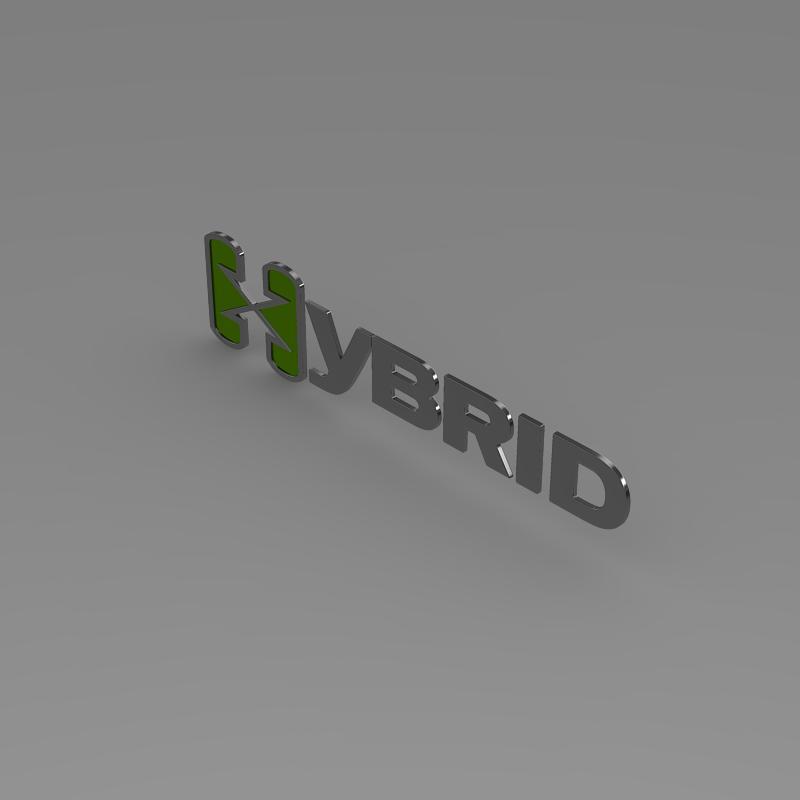 hibrid loqosu 3d modeli 3ds max fbx c4d lwo ma mb hrc xsi obj 151493