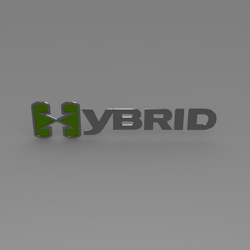 hibrid loqosu 3d modeli 3ds max fbx c4d lwo ma mb hrc xsi obj 151494